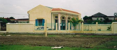 Das Gebäude des Anna-Kindergartens in Tân Hương
